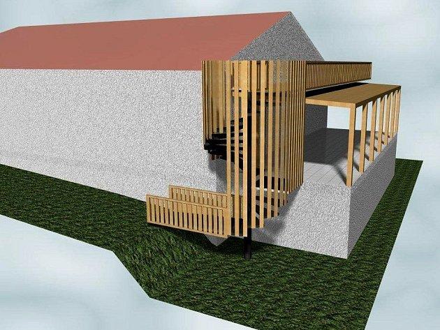 Tak bude vypadat dílská vyhlídková terasa.