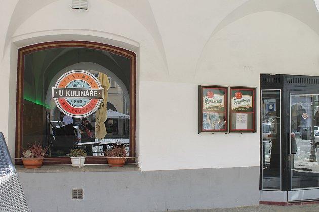 Restaurace UKulináře na domažlickém náměstí.