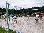 Z turnaje v plážovém volejbalu v bavorském Stadlernu.