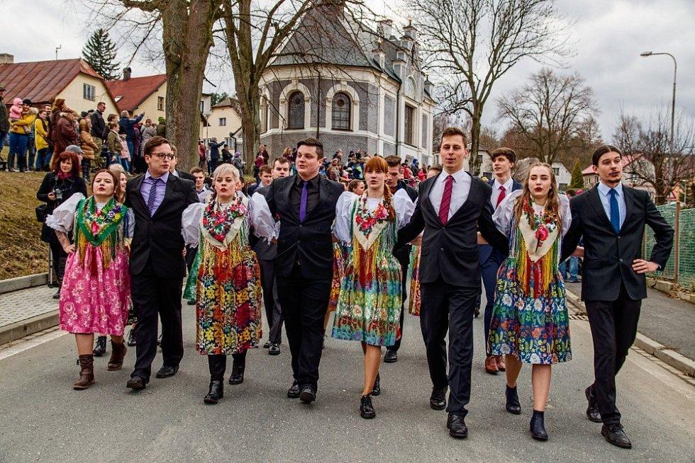Masopust v Postřekově v březnu 2019.