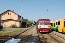 Lokálka od Staňkova na poběžovickém nádraží