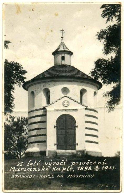 Výroční posvěcení kaple Panny Marie Lurdské na vrchu Mastník.