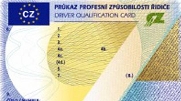 Nový průkaz profesní způsobilosti řidiče