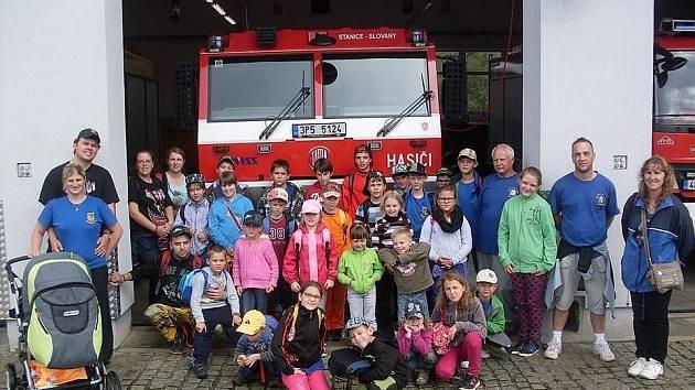 Z výletu k hasičům do Plzně.