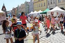 Sportmanie na domažlickém náměstí.