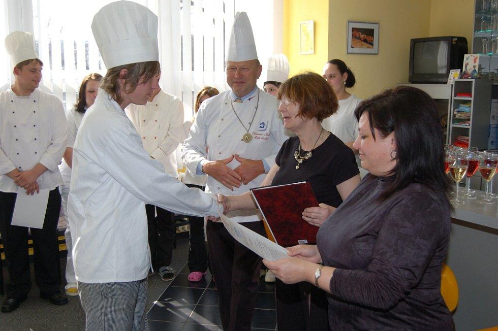 Závěrečný raut kurzu studené kuchyně na SOU Domažlice.