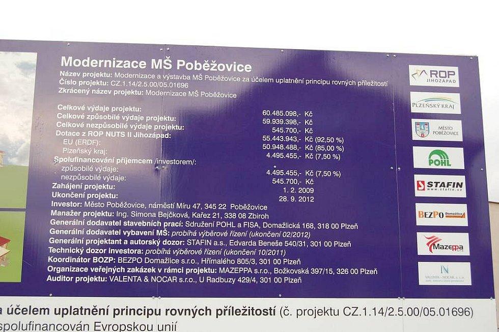Demolice MŠ Poběžovice, středa 19. října 2011.
