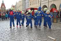 Z festivalu přípravek mladých hasičů v Domažlicích.