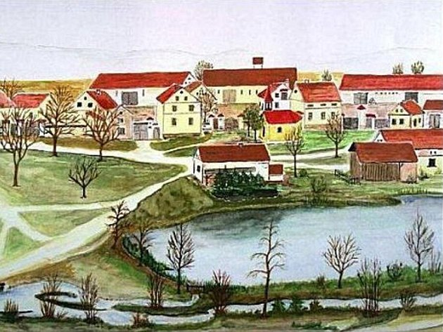 Na dobové kresbě se ukrývá obrázek zaniklé kaple.