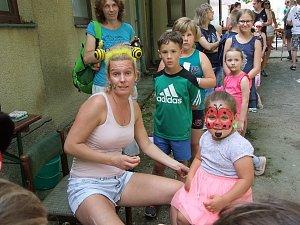 Dětský den nedaleko Sokolovny v Koutě na Šumavě