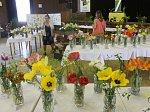 Výstava tulipánů ve staňkovském lidovém domě probíhala celou sobotu i neděli.