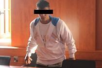 Obviněný muž u soudu v Domažlicích.