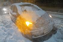 Nehody způsobené sněhem.