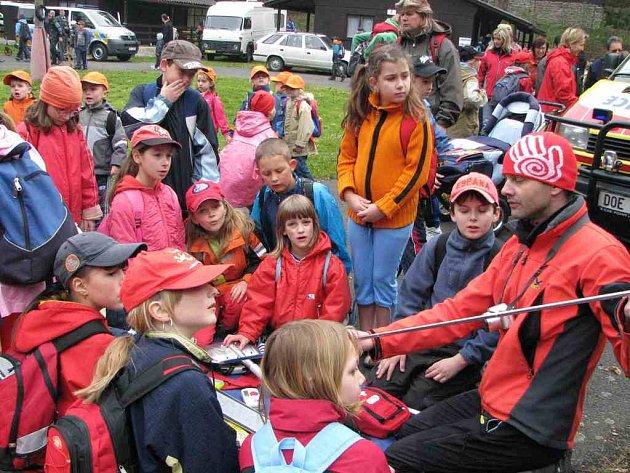 Akce Integrovaný záchranný systém dětem se konala na Podhájí u Horšovského Týna.