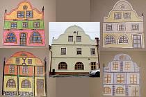 Návrhy domu čp.4. Dům obýval luteránský kazatel, bylo zde řeznictví, využíval jej místní lékař, sloužil jako prodejna potravin, textilu, obuvi i jako sběrna prádla s mandlem.