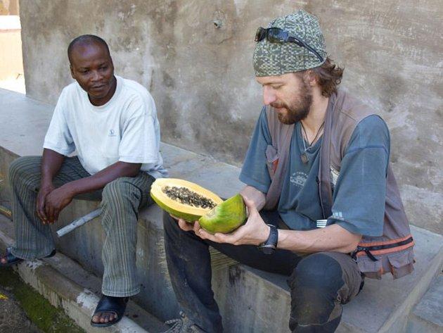Štěpán Pastula v Kongu.