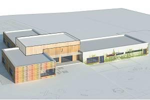 Školu v Postřekově čeká kompletní rekonstrukce. Budova dostane dřevěné opláštění.