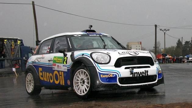 Václav Pech na trati Rallye Šumava.