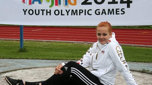 Domažlická atletka - kladivářka Lucie Staňková.