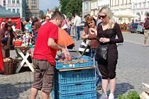 Farmářské trhy v Domažlicích.
