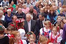 POSLEDNÍ PREZIDENTSKÁ NÁVŠTĚVA. V roce 2010 navštívil Chodské slavnosti podruhé za sebou Václav Klaus.