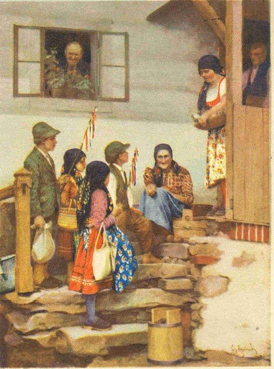 Velikonoční pohlednice z Chodska.
