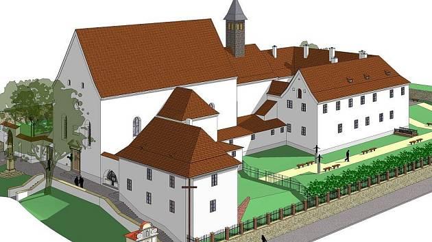 Grafický návrh revitalizovaného Kapucínského kláštera.