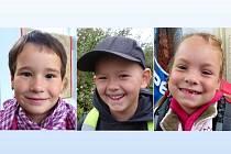 Jak se těší do školy, odpovídali (zleva) Sárinka, Ondrášek a Natálka.