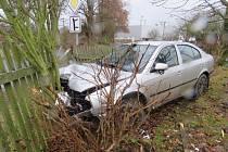 Nehoda v Trhanově.