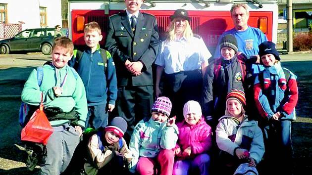 Mladí poběžovičtí hasiči