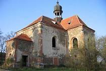 Kostel sv. Barbory u Všekar.