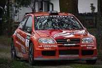 Jan Šlehofer a Zbyněk Soběhart s vozem Fiat Punto S1600 na trati ADAC-3-Städte-Rallye 2010.