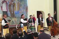 Domažlická dudácká muzika zahrála v Papežské koleji Nepomucenum ve Vatikánu.