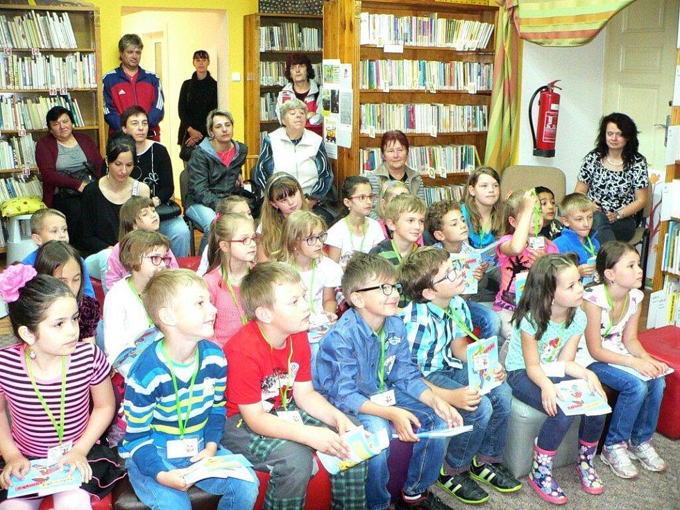Pasování prvňáčků na čtenáře v Horšovském Týně.