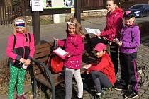 Děti se během luštění skvěle bavily.