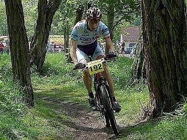 Závod horských kol Velká cena Domažlic.