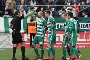 Zápas fotbalové Fortuna ligy mezi Bohemians a Slavii v Ďolíčku.