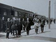 Z návštěvy prezidenta T. G. Masaryka.