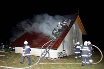 Požár rodinného domu v Podzámčí.