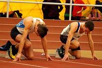 Ledvina a Tauer z AC Domažlice, finalisté na 60 m.