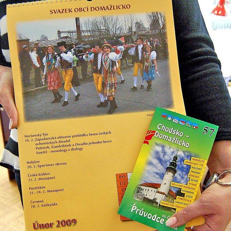 Nový průvodce Chodsko – Domažlicko nabízí třiadvacet tipů na výlety pro pěší, cyklisty i motoristy. Kalendář pak zve na zajímavé kulturní akce v regionu.