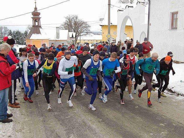 Z 34. ročníku Novoročního běhu v Draženově.
