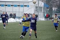 Z prvního přípravného utkání fotbalistů Sokola Postřekov s německým týmem WiWa 4:4 (0:2).