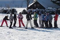 Z lyžařského kurzu domažlické obchodní akademie.