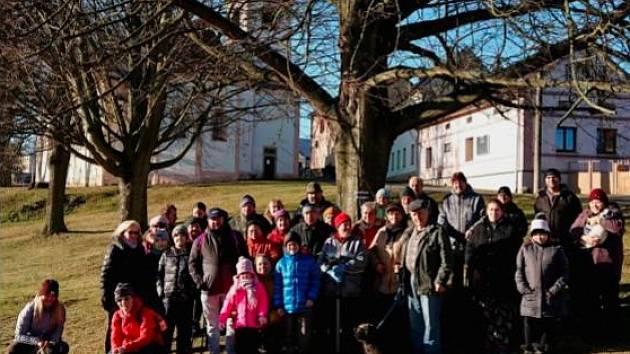 Přivítání nového roku v Mířkově.