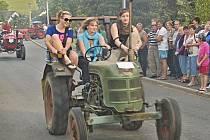 Couvání traktorů v Libkově