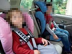 Co je platné, když jsou například děti v autě řádně v sedačkách, když vůz řídí osoba posilněná alkoholem. Ilustrační foto.