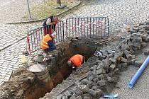 Stavební práce v rámci investiční akce Čistá Berounka.