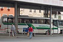 Autobusové nádraží v Domažlicích. Ilustrační foto.