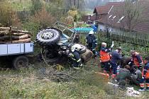 Z nehody v Kocourově.